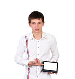 Man with tablet Stock Photography