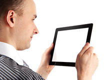 Man with tablet computer Royalty Free Stock Photography