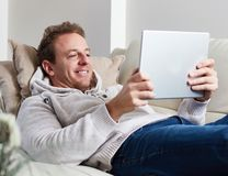Man with tablet computer Stock Photo