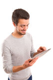 Man with tablet computer Stock Photos
