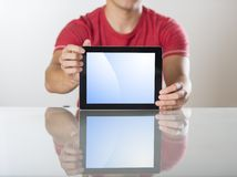 Man with tablet Royalty Free Stock Images