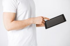 Man with tablet pc Stock Photos