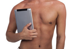 Man with tablet pc computer Royalty Free Stock Image
