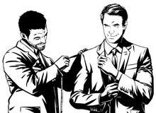 Man at the tailor . Stock Photos