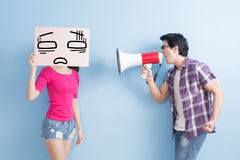 Man take the microphone Royalty Free Stock Images