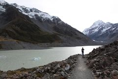 Top of mt cook stock photography