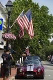 Man takes a photo at the Old Town Warrenton Father`s Day Car Show. Warrenton, Virginia/USA-6/17/18: Man takes a photo at the Old Town Warrenton Father`s Day Car stock photography