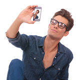 Man takes picture of himself Royalty Free Stock Photos