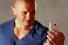 Man takes selfie Royalty Free Stock Photography
