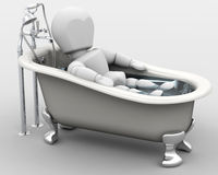 Man taking a bath Royalty Free Stock Image