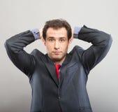 Man taking break at work Stock Images