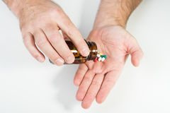 Man taking drugs Royalty Free Stock Photography