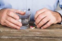 Man taking drugs Stock Image