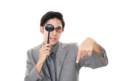 Man taking an eye test Stock Images