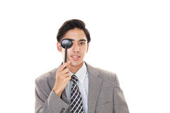 Man taking an eye test Stock Image