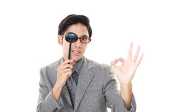 Man taking an eye test Stock Photos