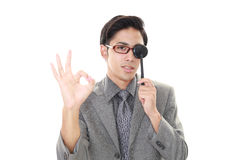 Man taking an eye test Stock Photography