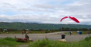 Para gliding with a motor off homer beach