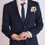Man is taking off the wedding ring.  Stock Photography