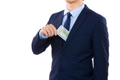 Man taking out of pocket Royalty Free Stock Photo