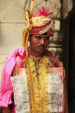Man taking part in wedding ceremony at Karni Mata Temple, Deshno Royalty Free Stock Photos