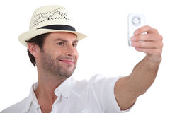 Man taking photo of himself Royalty Free Stock Photo