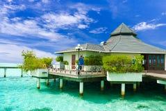 Man taking a photo in Maldives Royalty Free Stock Photos