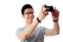 Man taking photo with smartphone Royalty Free Stock Photography