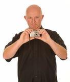Man taking photograph Stock Photos