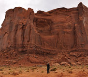Man Taking a Photograph of the Rain God Mesa Royalty Free Stock Photo