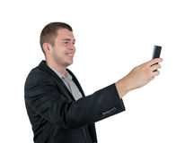 Man taking a photograph Stock Photos