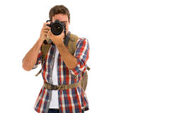 Man taking photos Royalty Free Stock Images