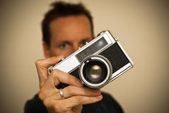 Man taking a picture Royalty Free Stock Images