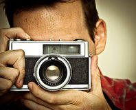 Man taking a picture Stock Photography