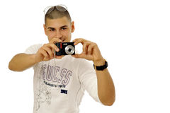 Man taking picture Royalty Free Stock Images