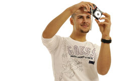 Man taking picture Royalty Free Stock Photos