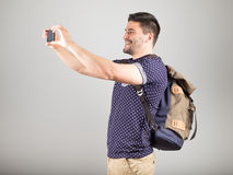 Man taking picture Stock Photos
