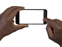 Man taking a picture using a smart phone Royalty Free Stock Photo