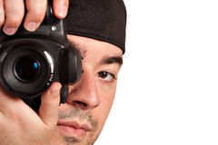 Man Taking Pictures Stock Image
