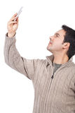 Man taking pictures with his cellphone Royalty Free Stock Image
