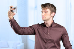 man taking a self shot Royalty Free Stock Photos