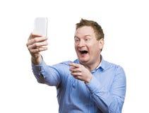 Man taking selfie of himself Royalty Free Stock Photography