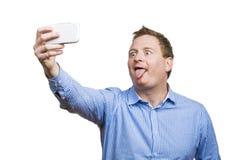 Man taking selfie of himself Royalty Free Stock Photos