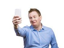 Man taking selfie of himself Stock Image