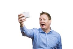 Man taking selfie of himself Royalty Free Stock Photo