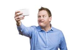 Man taking selfie of himself Royalty Free Stock Image