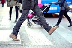 Man taking the step Stock Photo