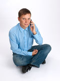 Man taling on a mobile phone Royalty Free Stock Photo