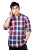 Man talk on phone Stock Images
