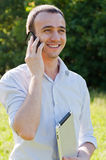 Man talk by phone Royalty Free Stock Photos